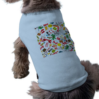 Pattern Summer holiday travel south sea Sleeveless Dog Shirt