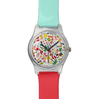 Pattern Summer holiday travel south sea Watch