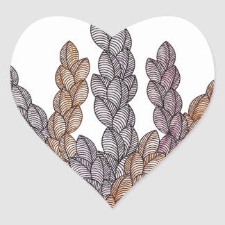Pattern T Heart Sticker