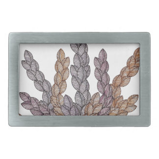 Pattern T Rectangular Belt Buckles