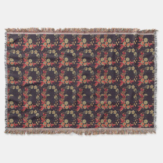pattern_texture_color_tile_red_black_ throw blanket