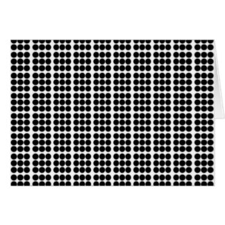 Pattern: White Background with Black Circles Greeting Card