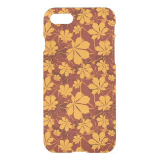 Pattern with autumn chestnut leaves iPhone 7 case