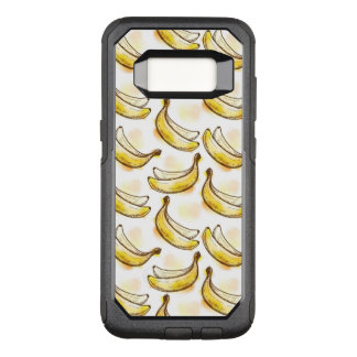 Pattern with banana OtterBox commuter samsung galaxy s8 case