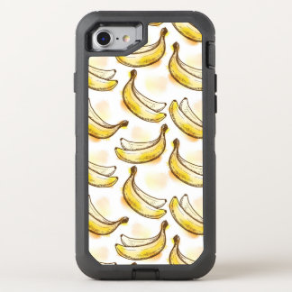 Pattern with banana OtterBox defender iPhone 7 case