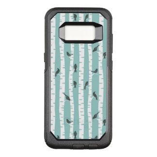 Pattern with birds and trees OtterBox commuter samsung galaxy s8 case