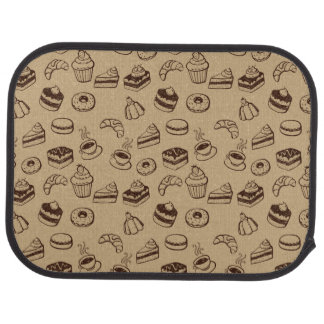 Pattern With Cakes Desserts And Bakery Floor Mat