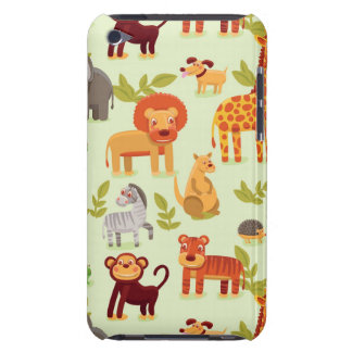 Pattern With Cartoon Animals Barely There iPod Case