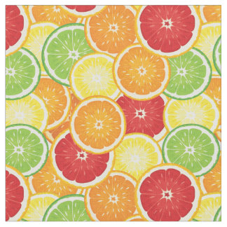 Pattern with citrus fruits fabric