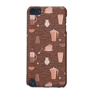 Pattern with coffee related elements iPod touch (5th generation) cases