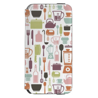 Pattern with colorful cooking icons incipio watson™ iPhone 6 wallet case