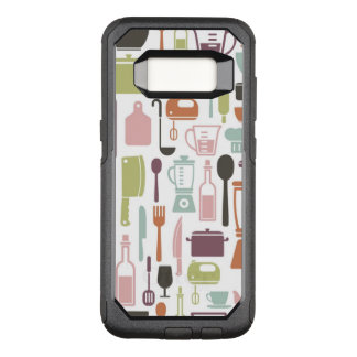 Pattern with colorful cooking icons OtterBox commuter samsung galaxy s8 case