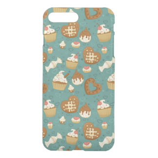 Pattern with cupcakes and candies iPhone 7 plus case