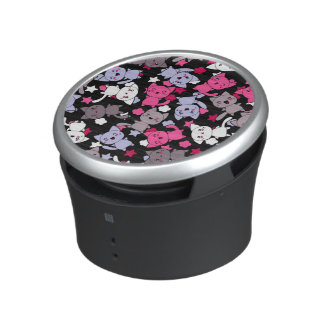pattern with cute kawaii doodle cats 3 bluetooth speaker