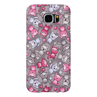 pattern with cute kawaii doodle cats samsung galaxy s6 cases