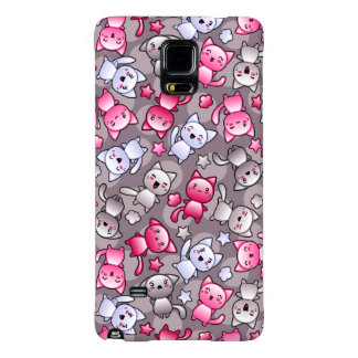pattern with cute kawaii doodle cats galaxy note 4 case