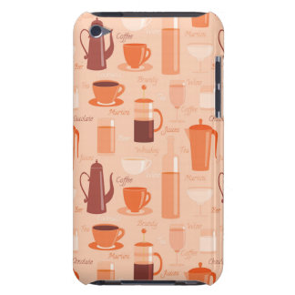 Pattern with drinks and text barely there iPod case