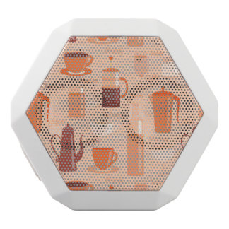 Pattern with drinks and text white boombot rex bluetooth speaker