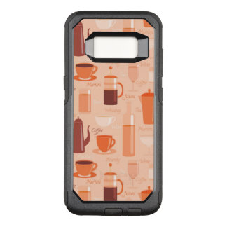 Pattern with drinks and text OtterBox commuter samsung galaxy s8 case