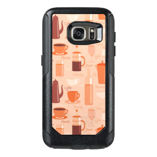 Pattern with drinks and text OtterBox samsung galaxy s7 case