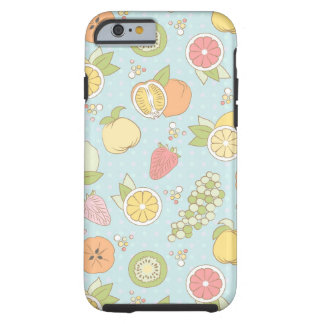 Pattern With Fruits And Berries Tough iPhone 6 Case