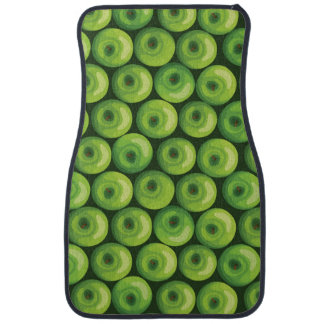 Pattern with Green Apples Car Mat