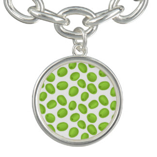 Pattern with  green olives