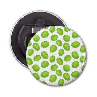 Pattern with  green olives bottle opener