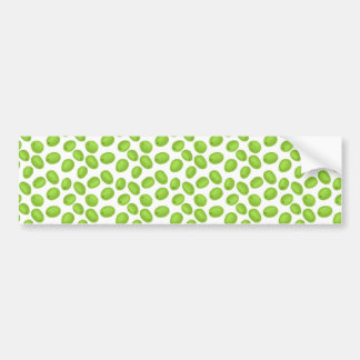 Pattern with  green olives bumper sticker