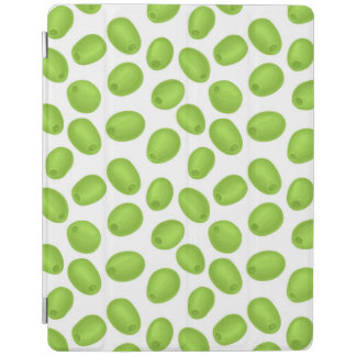 Pattern with  green olives iPad cover