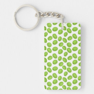 Pattern with  green olives key ring