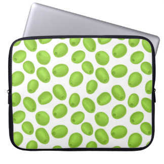 Pattern with  green olives laptop sleeve