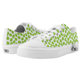 Pattern with  green olives printed shoes