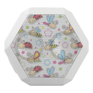 pattern with insects white boombot rex bluetooth speaker