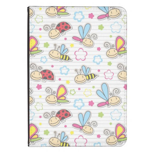 pattern with insects kindle cover