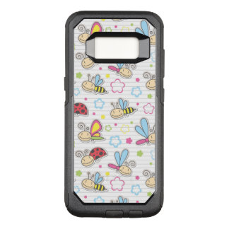 pattern with insects OtterBox commuter samsung galaxy s8 case