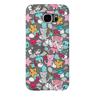Pattern with kawaii doodle samsung galaxy s6 cases