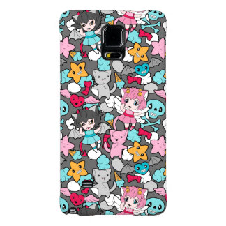 Pattern with kawaii doodle galaxy note 4 case