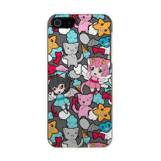 Pattern with kawaii doodle incipio feather® shine iPhone 5 case