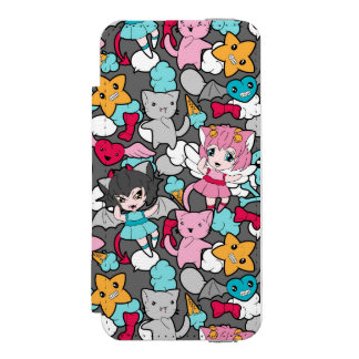 Pattern with kawaii doodle incipio watson™ iPhone 5 wallet case