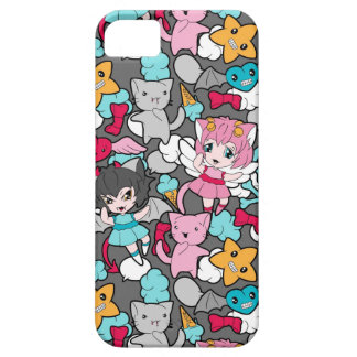 Pattern with kawaii doodle iPhone 5 cases