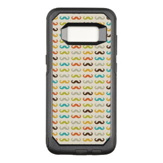 Pattern with mustache OtterBox commuter samsung galaxy s8 case
