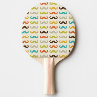 Pattern with mustache ping pong paddle