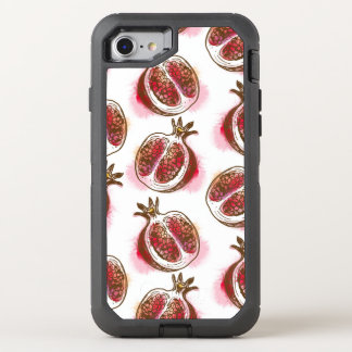 Pattern with pomegranate OtterBox defender iPhone 7 case
