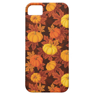Pattern with pumpkins and autumn maple iPhone 5 cover
