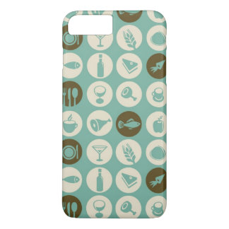 Pattern With Restaurant And Food Icons iPhone 7 Plus Case