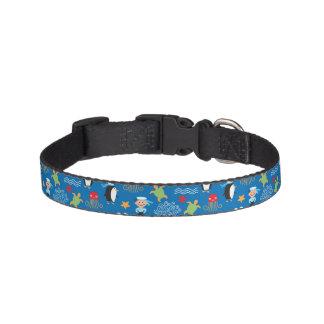 pattern with sea theme pet collar
