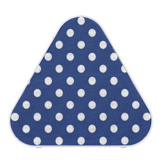 Pattern with white polka dots