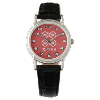 Pattern Women's Classic Black Leather Watch