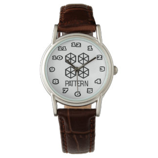 Pattern Women's Classic Brown Leather Watch
